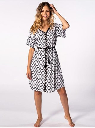 Rip Curl ISLAND white krátké letní šaty - černá