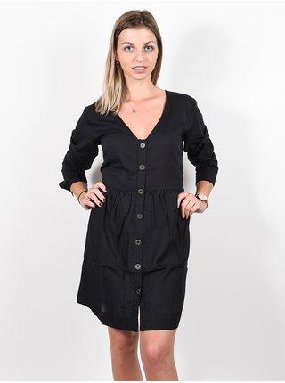 RVCA HARLEY black krátké letní šaty - černá