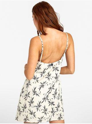 RVCA AARON OATMEAL krátké letní šaty - černá