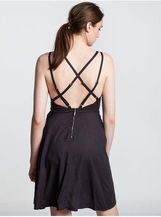Element HEART TWILL OFF BLACK krátké letní šaty - černá