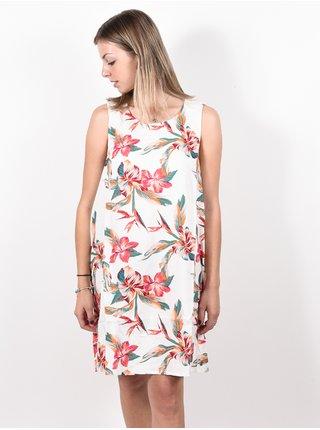 Roxy TRANQUILITY VIBES SNOW WHITE TROPIC CALL krátké letní šaty - bílá