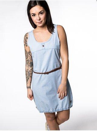 Alife and Kickin DOJAAK light denim krátké letní šaty - modrá