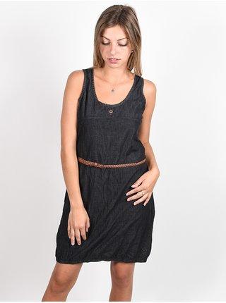 Alife and Kickin DOJAAK black denim krátké letní šaty - černá