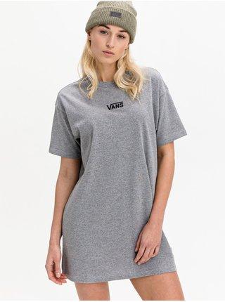 Vans CENTER VEE CEMENT HEATHER krátké letní šaty - šedá