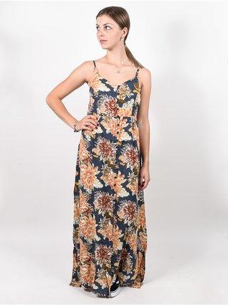 Rip Curl SUNSETTERS MAXI dark blue dlouhé letní šaty - modrá