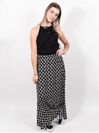 Rip Curl ISLAND black dlouhé letní šaty - oranžová