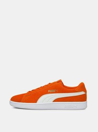Oranžové pánské semišové tenisky Puma