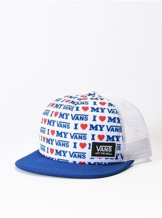 Vans BEACH BOUND TRUE BLUE/VANS LOVE kšiltovka s rovným kšiltem - modrá