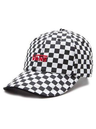 Vans HIGH STANDARD Black/White Checkerboard baseballová kšiltovka - černá