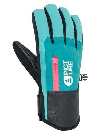 Picture Kakisa LIGHT BLUE DARK BLUE zimní prstové rukavice - modrá