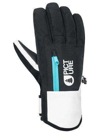 Picture Kakisa black zimní prstové rukavice - černá