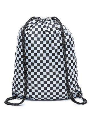 Vans BENCHED Black/White Checkerboard pytel na záda - černá