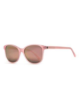 Horsefeathers CHLOE gloss rose/mirror champagne sluneční brýle pilotky - růžová