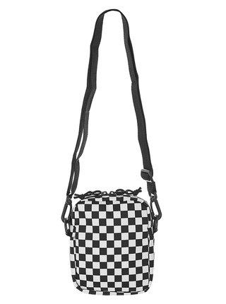 Vans STREET READY II Black/White Checkerboard taška přes rameno - černá