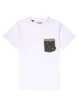 Billabong ALL DAY PRINTED white dětské triko s krátkým rukávem - bílá