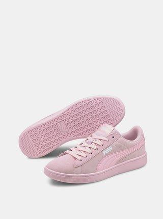 Růžové dámské semišové tenisky Puma