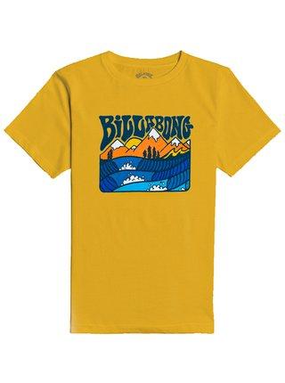 Billabong MT ROCK MUSTARD dětské triko s krátkým rukávem - žlutá