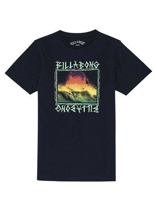 Billabong BONE YARD NAVY dětské triko s krátkým rukávem - černá