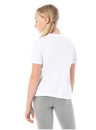 Vans SPLIT LEOPARD white dětské triko s krátkým rukávem - bílá