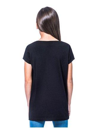 Horsefeathers NICKI black dětské triko s krátkým rukávem - černá