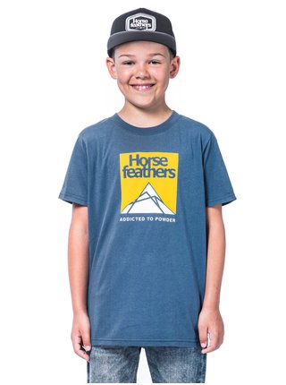 Horsefeathers LEX MOONLIGHT BLUE dětské triko s krátkým rukávem - modrá