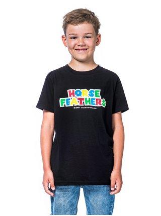 Horsefeathers INSERT COIN black dětské triko s krátkým rukávem - černá