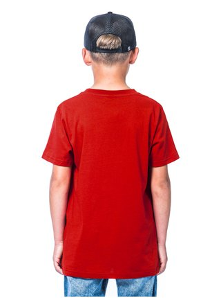 Horsefeathers FAIR RED dětské triko s krátkým rukávem - červená