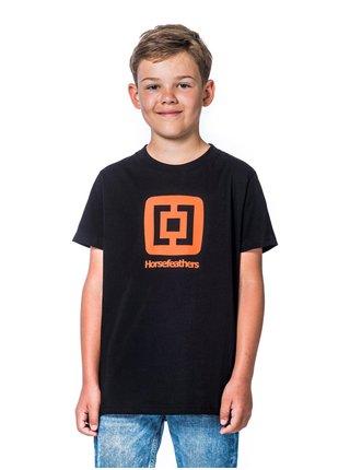 Horsefeathers FAIR black dětské triko s krátkým rukávem - černá