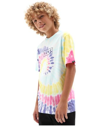 Vans TIE DYE EASY BOX RAINBOW (SPECTRUM)TIE DYE dětské triko s krátkým rukávem - barevné