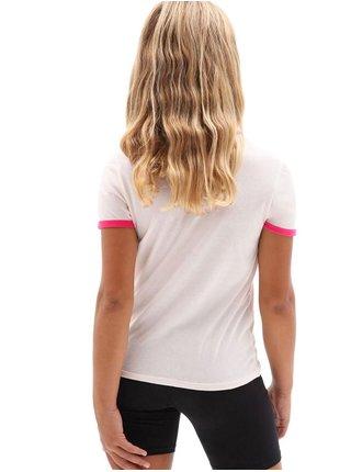 Vans LOLA VANS COOL PINK/FCHSIAPRPL dětské triko s krátkým rukávem - bílá
