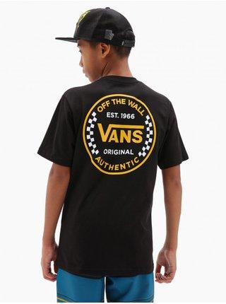 Vans AUTHENTIC CHECKER black dětské triko s krátkým rukávem - černá