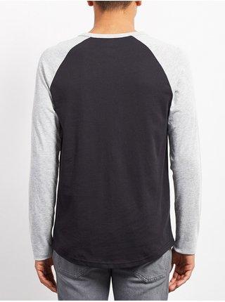 Volcom Pen HEATHER GREY dětské triko s dlouhým rukávem - černá