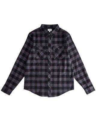 Billabong ALL DAY FLANNEL black dětské košile s dlouhým rukávem - černá