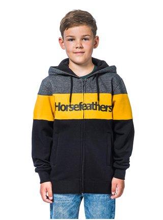 Horsefeathers TREVOR GOLDEN YELLOW dětská mikiny na zip - černá