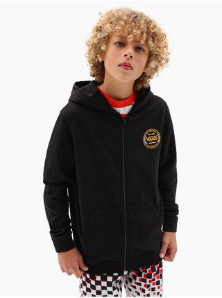 Vans AUTHENTIC CHECKER black dětská mikiny na zip - černá