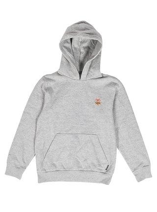 Billabong JUNGLE grey heather mikiny přes hlavu dětská - šedá