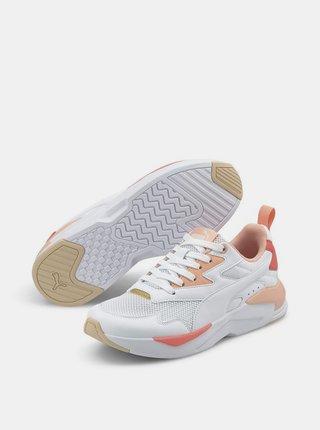 Oranžovo-bílé dámské tenisky Puma