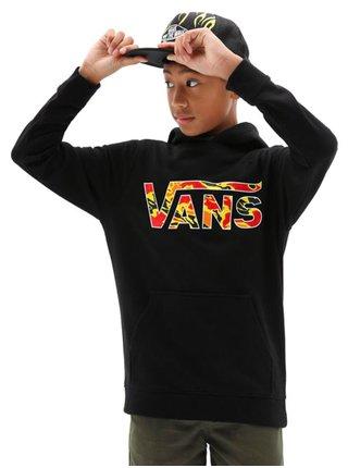 Vans VANS CLASSIC BLACK/FLAME CAMO mikiny přes hlavu dětská - černá