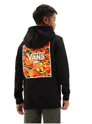 Vans PRINT BOX BACK BLACK/FLAME CAMO mikiny přes hlavu dětská - černá
