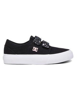 Dc TRASE V BLACK/WHITE/PINK letní boty dětské - černá