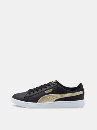 Černé dámské kožené tenisky Puma