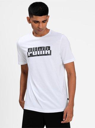 Bílé pánské tričko s potiskem Puma