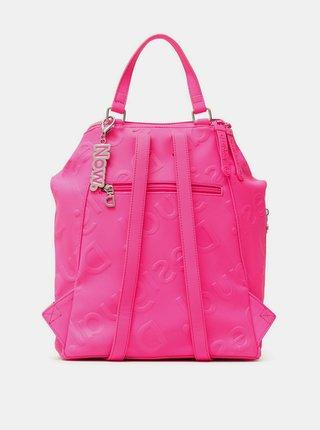 Desigual ružové ruksak Back Colorama Loen Rosa Fluor