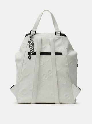 Desigual biele ruksak Back Colorama Loen Blanco