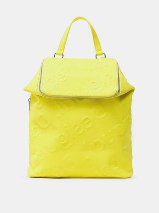 Desigual žlté ruksak Back Colorama Loen Amarillo Fluor