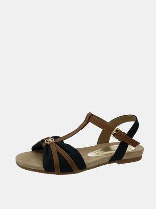 Hnědo-modré dámské sandály Tom Tailor