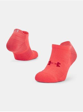 Ponožky Under Armour ArmourDry Run No Show - červená