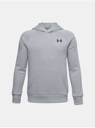 Mikina Under Armour UA RIVAL COTTON HOODIE - šedá