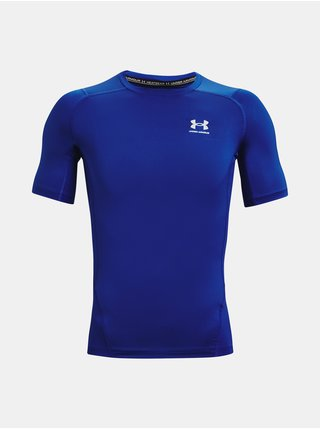 Tričko Under Armour HG Armour Comp SS - modrá