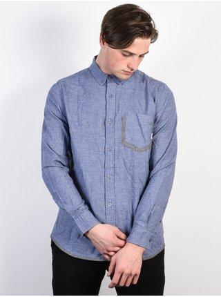 Element RICHTER BLUE HEATHER pánské košile s dlouhým rukávem - modrá